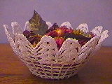 Crochet basket with points