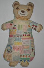 Nounours en patchwork de point de croix